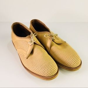 Perforated Suede 10.5 E  Wide Knapp Shoes Oxford